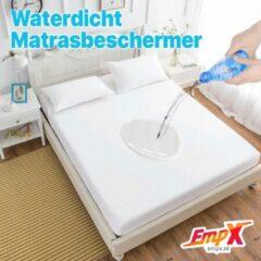 EmpX.nl Waterdicht Matrasbeschermer 80x200 - Hoeslakenbadstof - Antibacteriëel - Rondom Elastiek - Wit - Waterdichte Matras Beschermer Incontinentie Matrasbeschermer 80x200