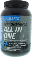 Lamberts All in one whey proteine aardbei 1450 Gram