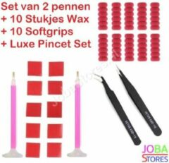 "Diamond Painting ""JobaStores®"" Pennen Breed + Wax + Softgrips + Pincet Set"