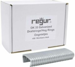 Regur OK 33 eyelet clamps galvanized 450 pc(s) Regur 60721 Dimensions (L x W) 35 mm x 95 mm