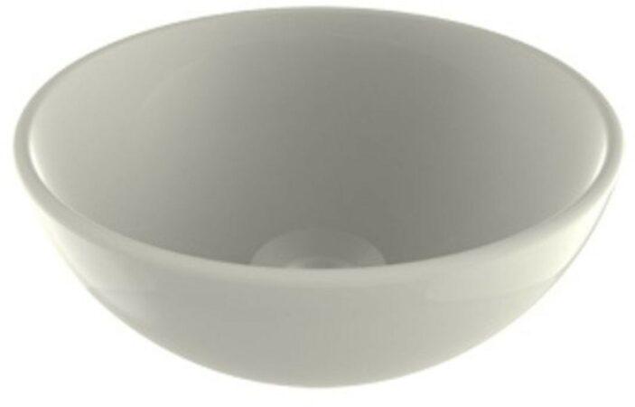 Afbeelding van Waskom Opbouw Plieger Mini Round 26x12 cm Keramiek Glanzend Wit