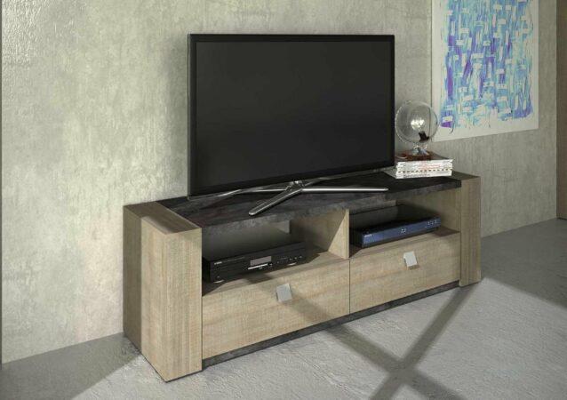 Afbeelding van Trasman Tv-meubel Iris - grijze eik