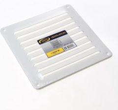 Gavo Schoepenrooster aluminium wit 19.5 x 19.5cm