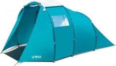 Blauwe Bestway Pavillo tent family dome X4 voortent