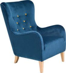Max Winzer® Sessel mit farbigen Zierknöpfen »Melina«, mit Holzfüßen