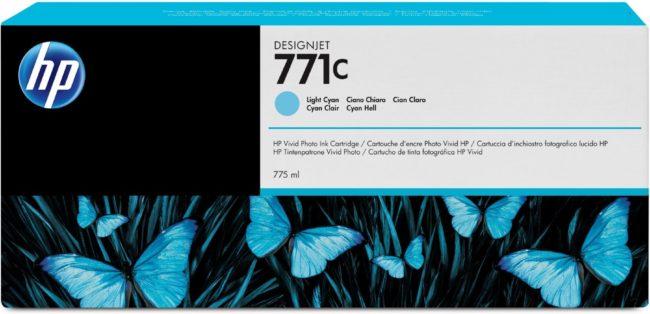 Afbeelding van Cyane HP 771C - Inktcartridge / Licht Cyaan / 775 ml (B6Y12A)