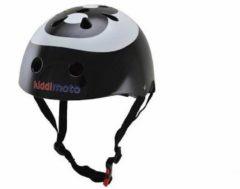 Zwarte Kiddimoto - 8-Ball - Small - Geschikt voor 2-6jarige of hoofdomtrek van 48 tot 52 cm - Design Skatehelm / Fietshelm