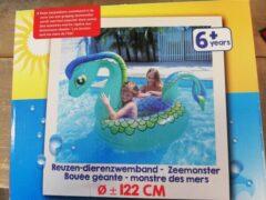 Blauwe Evora Zwemband - Reuze - Zeemonster - 122 cm