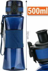 Donkerblauwe Drinkfles Herbruikbare Waterfles | 500 ml Donker Blauw | Vaatwasserbestendig Drinkbus Bidon | King Mungo KMDF004