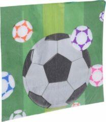 Tom Servetten Voetbal 33 X 33 Cm Papier Groen 16 Stuks