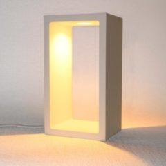 Artdelight - Tafellamp Corridor - Wit - LED 6W 2700K - IP40 - 3-stappen Dimmer > lampen staand led | tafellamp wit | tafellamp slaapkamer | tafellamp woonkamer | led lamp