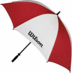 Wilson 62 Inch Double Canopy Golfparaplu - Rood Wit