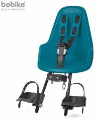 Blauwe Bobike One Mini Fietsstoeltje Voorzitje - Bahama Blue