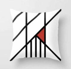 Artistieke designer kussenhoes - Sierkussenhoes - Sierkussen - 45x45 cm