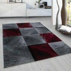 Plus Vloerkleed - Square - Rechthoek - Rood - 120 x 170 cm - Vintage, Patchwork, Scandinavisch & meer stijlen vind je op WoonQ.nl