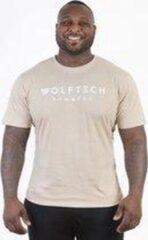 Wolftech Gymwear Sportshirt Heren - Beige - S - Regular Fit - Sportkleding Heren