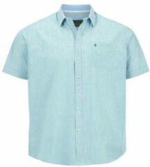 Charles Colby gestreept loose fit overhemd DUKE XERUS Plus Size turquoise