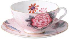 Wedgwood Cuckoo Kop & Schotel - Porselein/roze