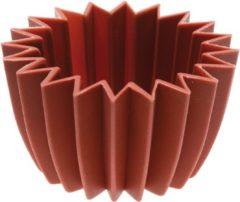 Bruine Siliconen Bakvorm - Sambonet - Cupcake ster mini - voor 6 stuks