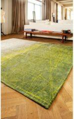 Louis de Poortere Laagpolig vloerkleed Louis de Poortere 8882 Mad Men Central Park groen 140x200 cm