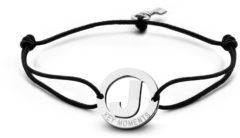 Zilveren Key Moments 8KM-A00010 - Armband met stalen letter J en sleutel - one-size - zilverkleurig