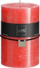 J-Line Cilinderkaars Kerstrood Xl -110H