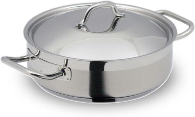 Afbeelding van Zilveren Sauteerpan extra laag, RVS, 24 cm - Silampos