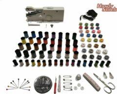 Handy Switch Handy Stitch - PREMIUM Handnaaimachine met Adapter en 140 Delige Starteskit - Compact - Draagbare reis naaimachine - Incl. 82 Spoelen garen - Elektrisch of op Batterijen