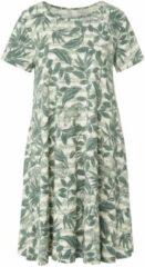 Green Cotton Jerseyjurk van 100% katoen met animal-bladerprint Van groen Cotton groen
