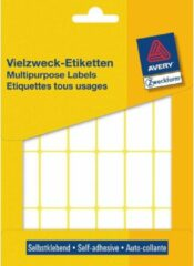 Avery Zweckform 3324 mini etiketten ft 38 x 18 mm (b x h), 648 etiketten, wit