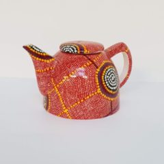Rode Alperstein Designs Design theepot - Debbie Napaljarri Brown - Aboriginal collectie