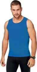 Proact Blauw sport singlet voor heren S (36/48)