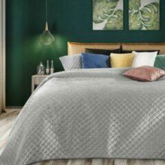 Luxe bed deken Brulo Polyester sprei 170x210 cm Gewicht-180+70+100 GSM zilver