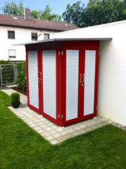 Rode Tuinkast Garten Q Kompakt Gr. 1 rood/wit