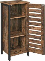 VASAGLE zijkast - Industriële stijl / Vintage - Donkerbruin/Zwart - 37 x 30 x 80 cm