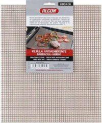 Bruine Algon BBQ / Barbeque VLEESROOSTER ANTI AANBAK (28 X 34 CM)