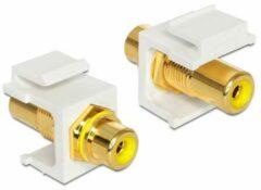 DeLOCK 86309 RCA RCA Geel kabeladapter/verloopstukje