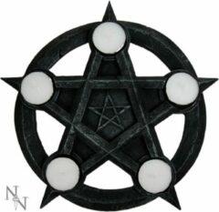 Nemesis Now Theelichthouder Pentagram Zwart