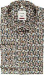 Witte Haupt Heren overhemd met streepjes print | Maat XXL