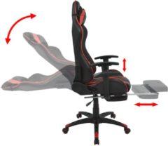 VidaXL Bureau-/gamestoel verstelbaar met voetensteun rood