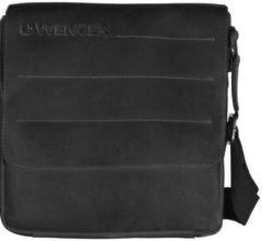 Street Hunter Umhängetasche Leder 28 cm Laptopfach Wenger black