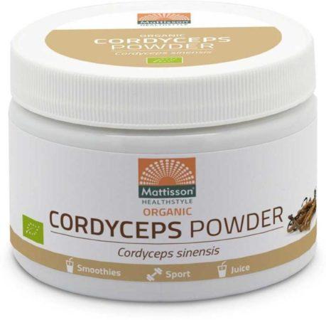 Afbeelding van Mattisson Cordyceps Powder - Cordyceps Sinensis Organic Bio (100g)