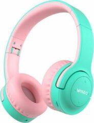 WISEQ Hero - Koptelefoon kind – met 20 uur Batterij - Onbreekbaar - Bluetooth 5.0 - Kinderkoptelefoon voor kinderen tot 12 jaar - Mintgroen