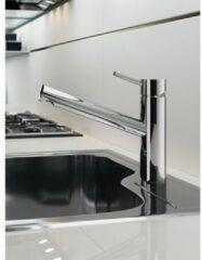 Hotbath Fellow keukenmengkraan 20x21cm met hendel en draaibare uitloop geborsteld nikkel FKM8GN