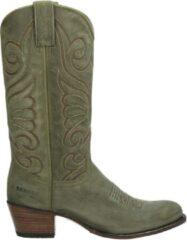 Groene Sendra 11627 Debora dames cowboylaarzen - Kaki - Maat 38