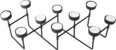 Pt, (Present Time) Harmonica - Waxinelichtjeshouder - IJzer - 16 x 49 x 12,5 cm - Zwart