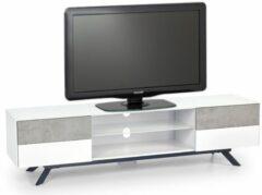Home Style Tv-meubel Stonno 180 cm breed in wit met grijs beton