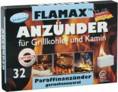 Flamax Aanmaakblokjes Wit voor Open Haard en Barbecue - 32 stuks