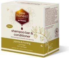 Shampoobar Bee Honest (de Traay), jojoba & honing, voor normaal tot vet haar, 80 gram