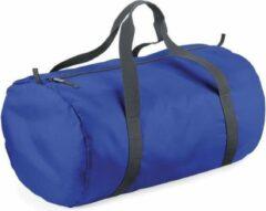 Bagbase Kobalt blauwe ronde polyester sporttas/weekendtas 32 liter - Sporttassen/gymtassen/weekendtassen voor volwassenen
